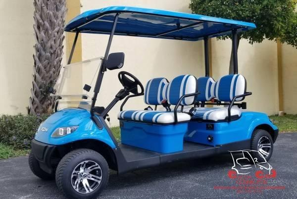 2021 ICON i40F Caribbean Blue Golf Cart Electric Vehicle
