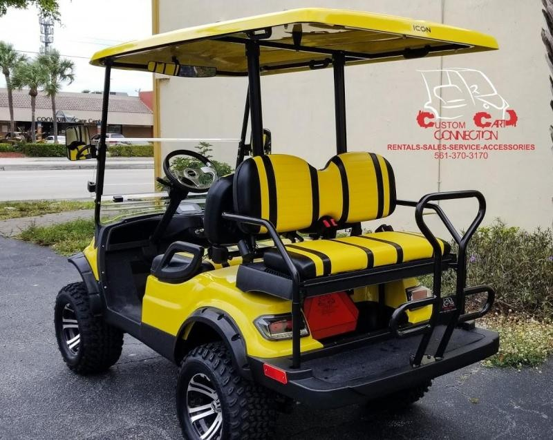 2021 ICON i40L Yelow Golf Cart Electric Vehicle
