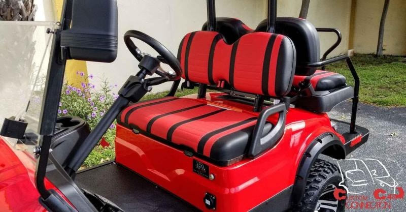 2021 ICON i40L Red Lifted Golf Cart