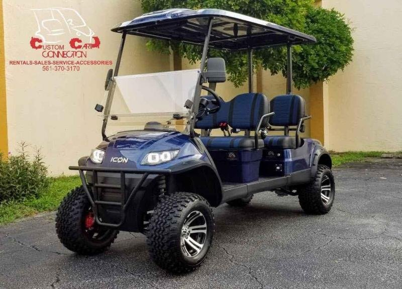 2021 ICON i40FL 4 Passenger Lifted Golf Cart
