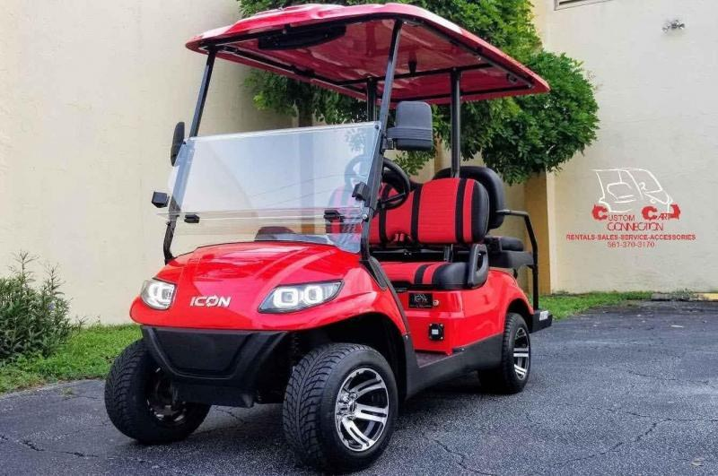 2021 ICON i40 Red  Golf Cart