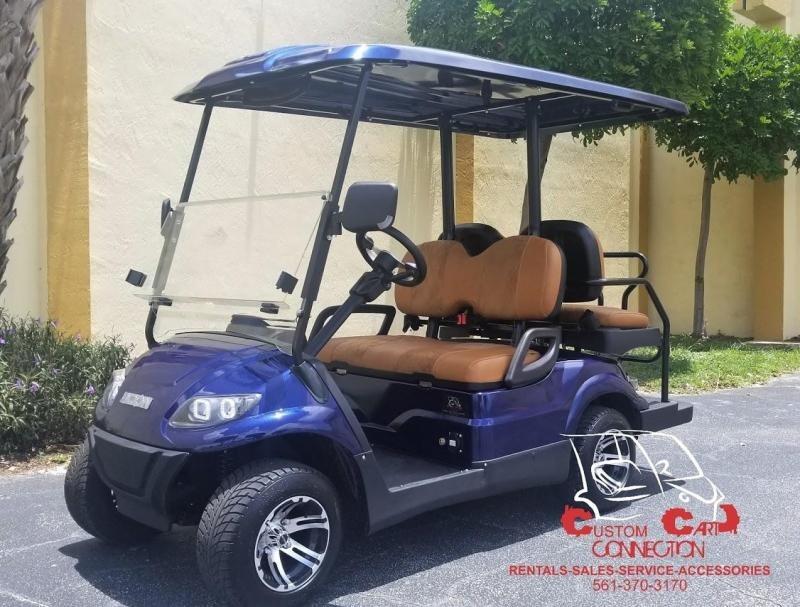 2021 ICON i40 Indigo Blue Golf Cart Electric Vehicle