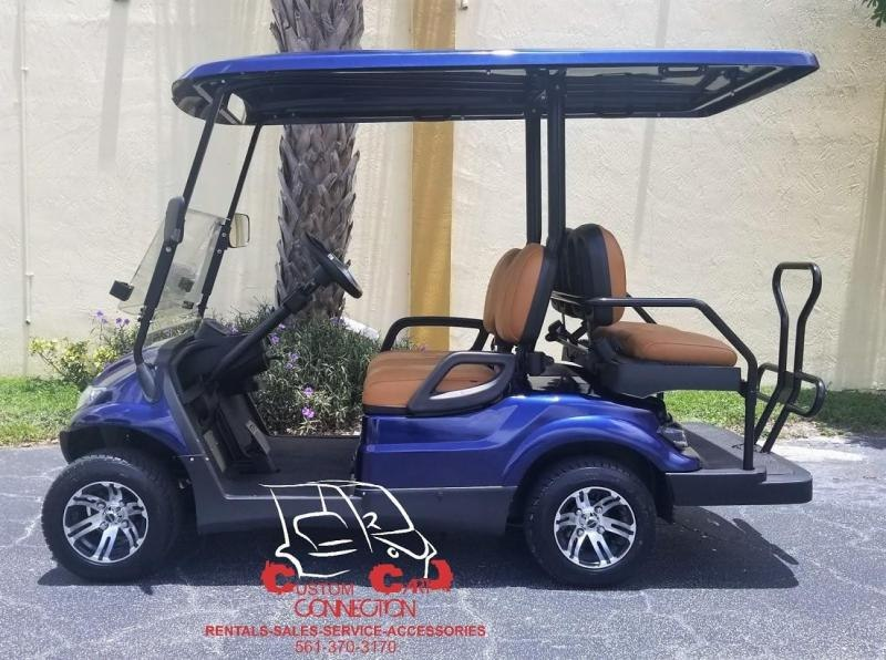 2021 ICON i40 Indigo Blue Golf Cart Electric Vehicle