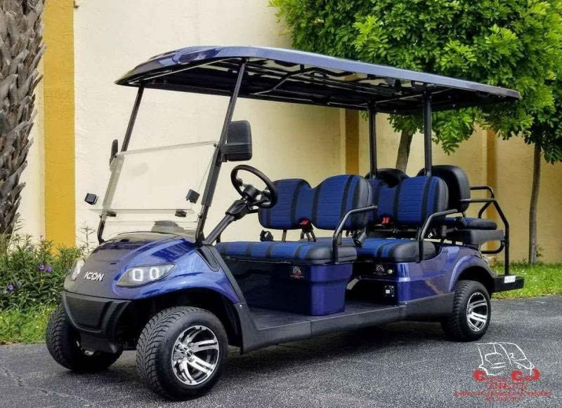 2021 ICON i60 Indigo Blue 6 Passenger Golf Cart