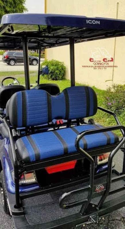 2021 ICON i60 Indigo Blue 6 Passenger Golf Cart