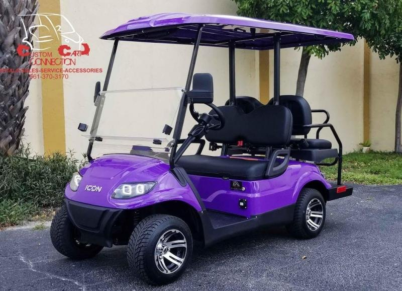 2020 ICON i40 Purple 4 Passenger Golf Cart