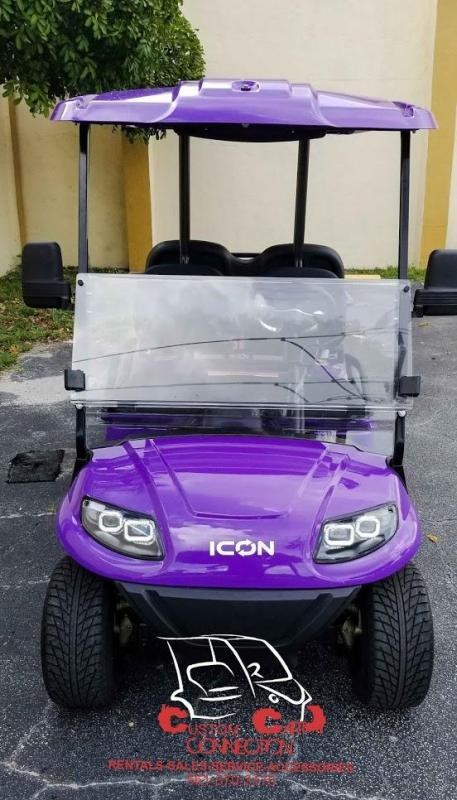 2021 ICON i40 Purple 4 Passenger Golf Cart