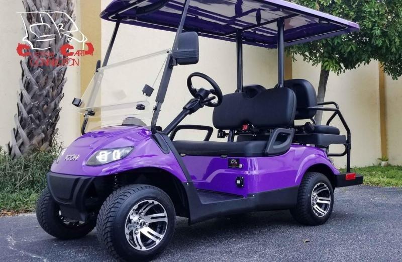 2021 ICON i40 Purple 4 Passenger Golf Cart