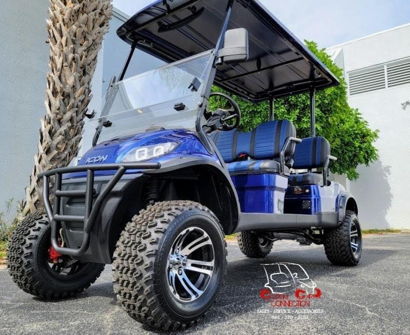 2021 ICON i40FL Indigo Blue Golf Cart