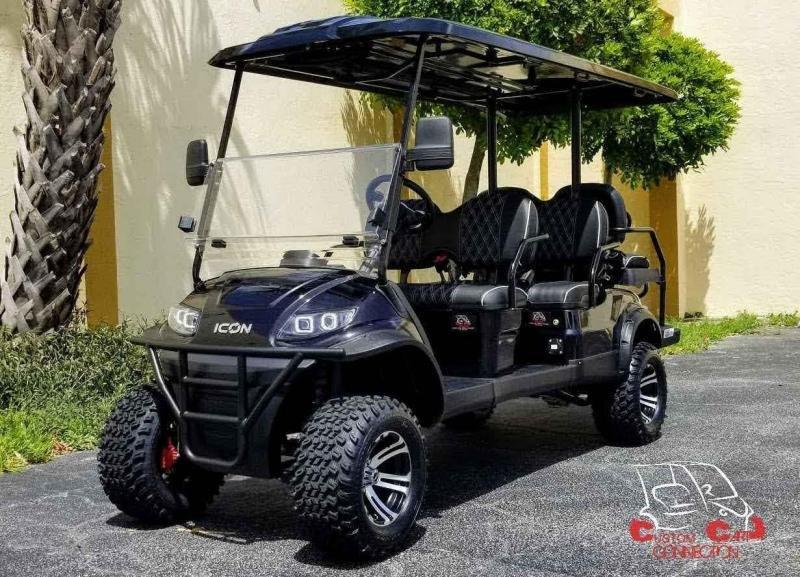2020 ICON i60L Black Golf Cart w/Upgraded Seats