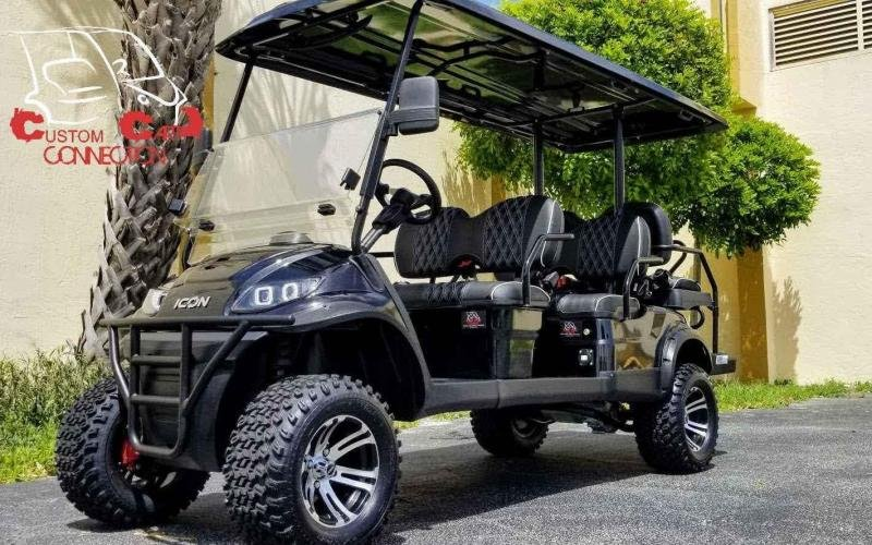 2021 ICON i60L Black Golf Cart w/Upgraded Seats