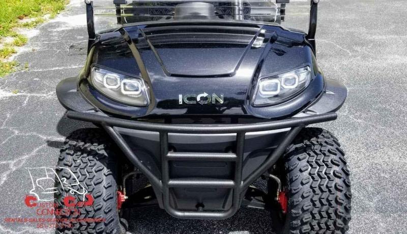 2021 ICON i60L Black Golf Cart w/Upgraded Seats