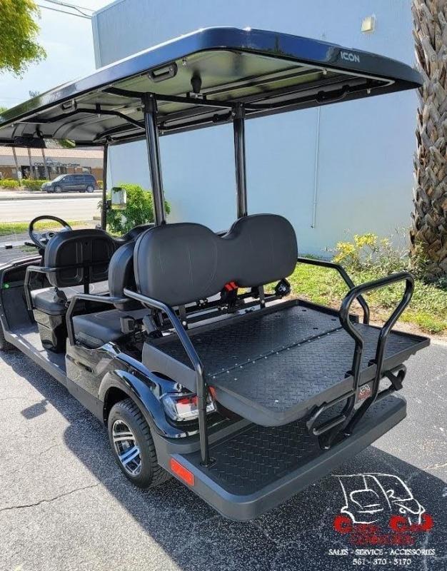 2021 ICON i60 Black 6 Passenger Golf Cart Electric Vehicle