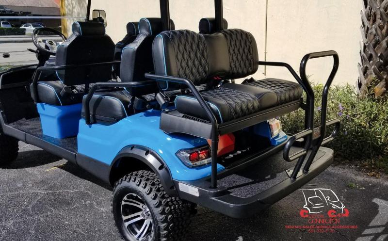 2021 ICON i60L Custom Caribbean Blue Golf Cart w/Upgraded Seats