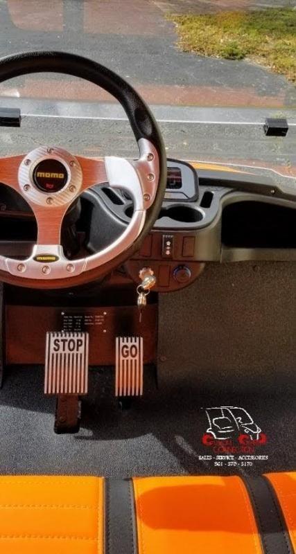 2021 ICON i60L Orange 6 Passenger Golf Cart Electric Vehicle