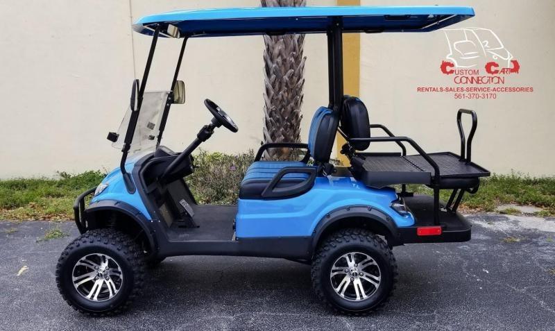 2021 ICON i40L Caribbean Blue Golf Cart