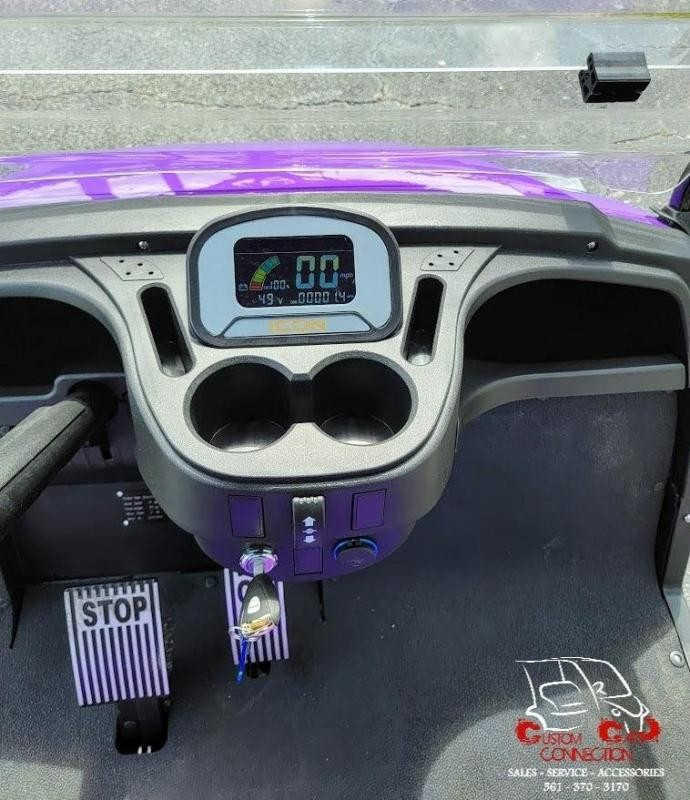 2021 ICON i40 Purple Golf Cart Electric Vehicle