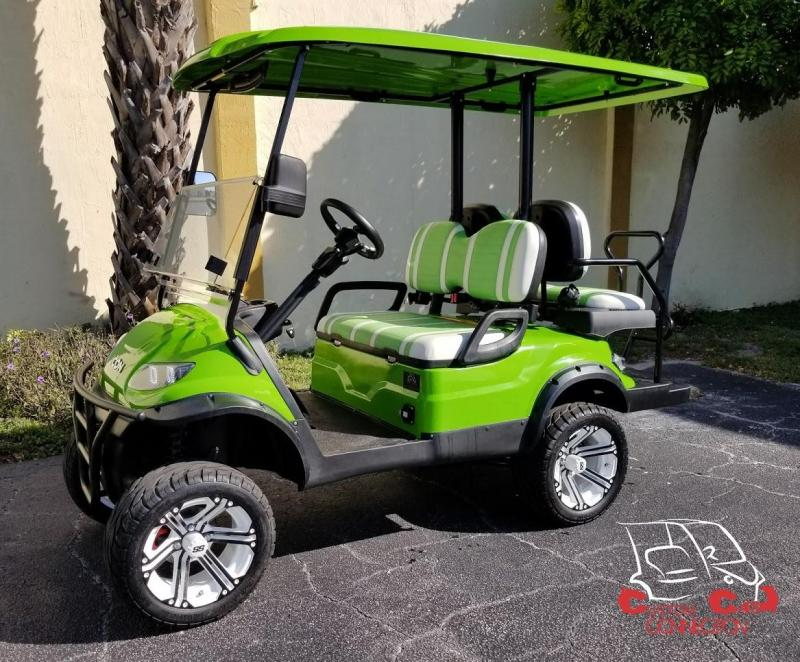 2020 ICON i40L Lime Green Golf Cart w/Upgraded Rims & Tires