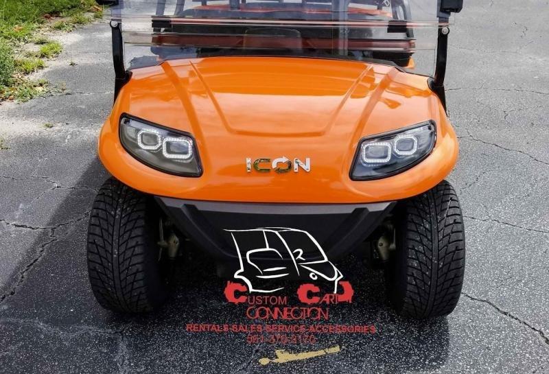 2021 ICON i40 Orange Golf Cart Electric Vehicle