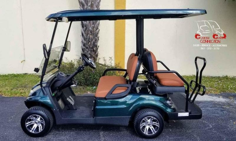 2021 ICON i40 Forest Green Golf Cart Electric Vehicle