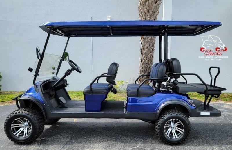 2021 ICON i60L Indigo Blue Lifted Golf Cart