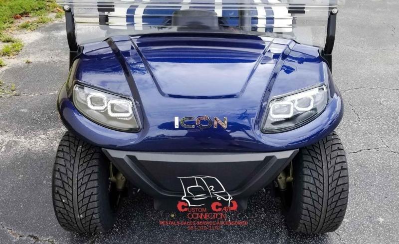 2020 ICON i40 Indigo Blue Golf Cart Electric Vehicles