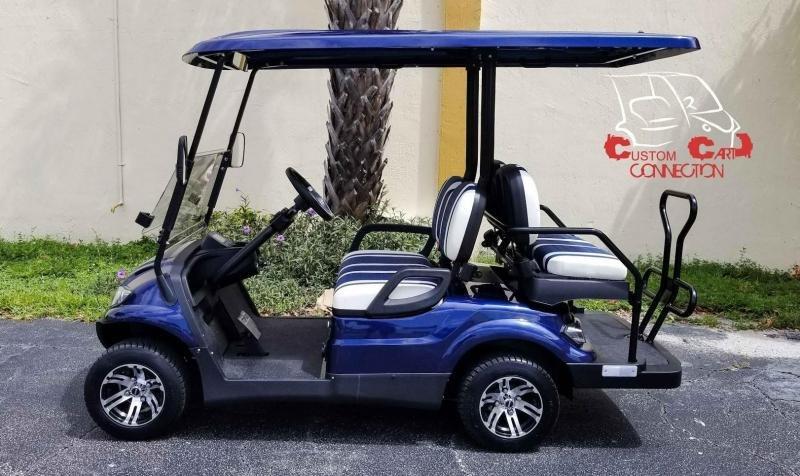 2021 ICON i40 Indigo Blue Golf Cart Electric Vehicles
