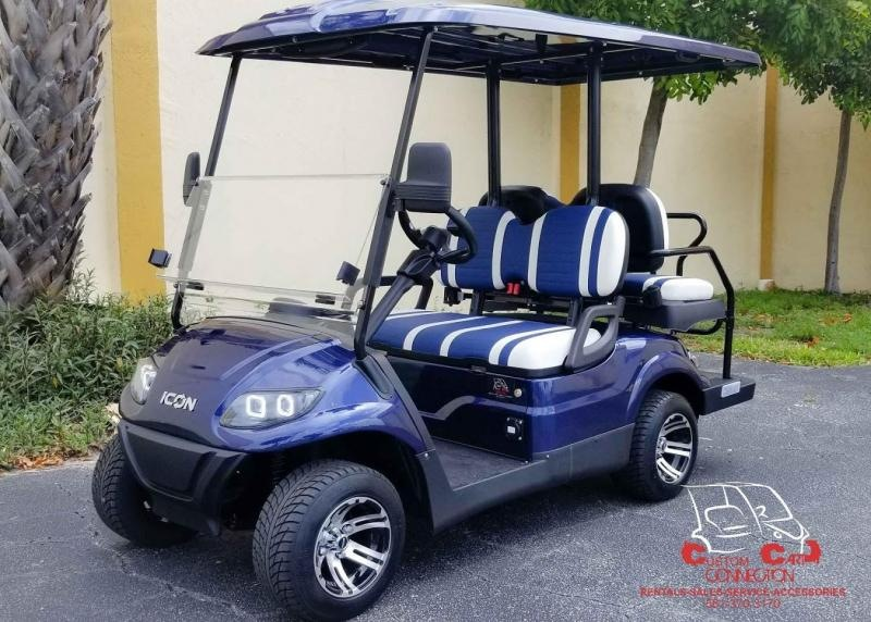 2021 ICON i40 Indigo Blue Golf Cart Electric Vehicles