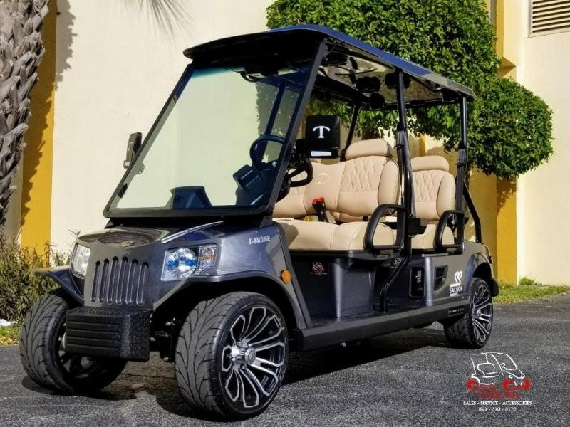 2021 Tomberlin E4 SS Saloon Golf Cart w/Pebble Cool Touch Seats