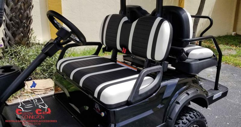 2020 ICON i40L Black Lifted Golf Cart Electric Vehicle