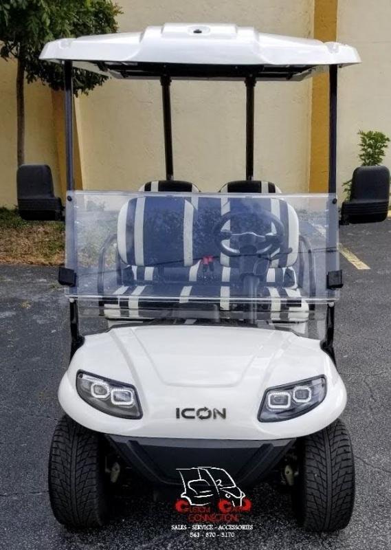 2021 ICON i40F White 4 Passenger Golf Cart Electric Vehicle