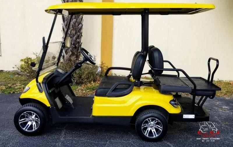 2021 ICON i40 Yellow Golf Cart Electric Vehicle