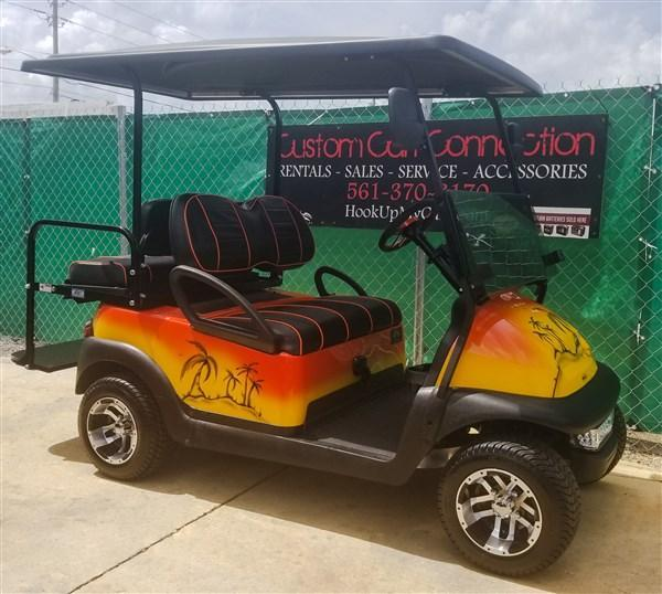 2016 Custom Airbrushed Tropical Themed Club Car Precedent