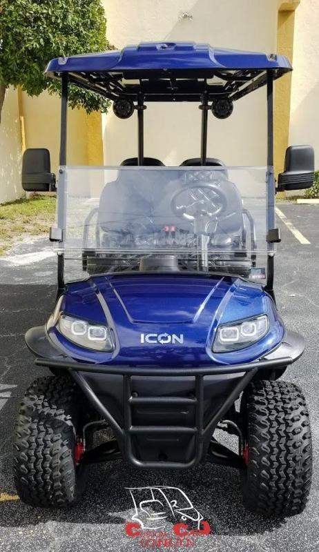 2020 ICON i60L Indigo Blue Golf Cart w/Custom Seats