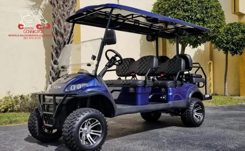 2021 ICON i60L Indigo Blue Golf Cart w/Custom Seats