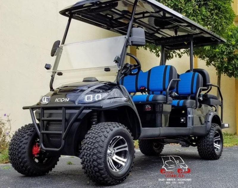2021 ICON i60L Black Lifted Golf Cart