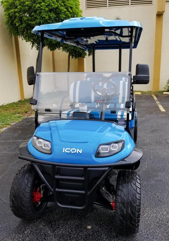 2020 ICON i60L Caribbean Blue Golf Cart 6 Passenger