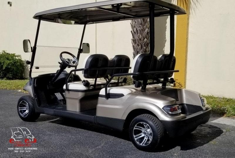 2021 ICON i40F Champagne Metallic Golf Cart w/4 forwad facing seats