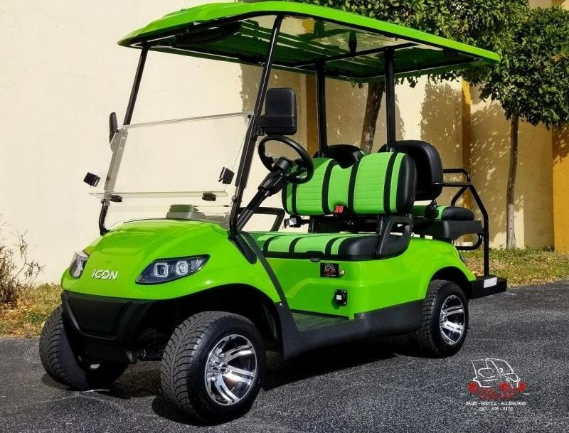 2021 ICON i40 Lime Green Golf Cart Electric Vehicles