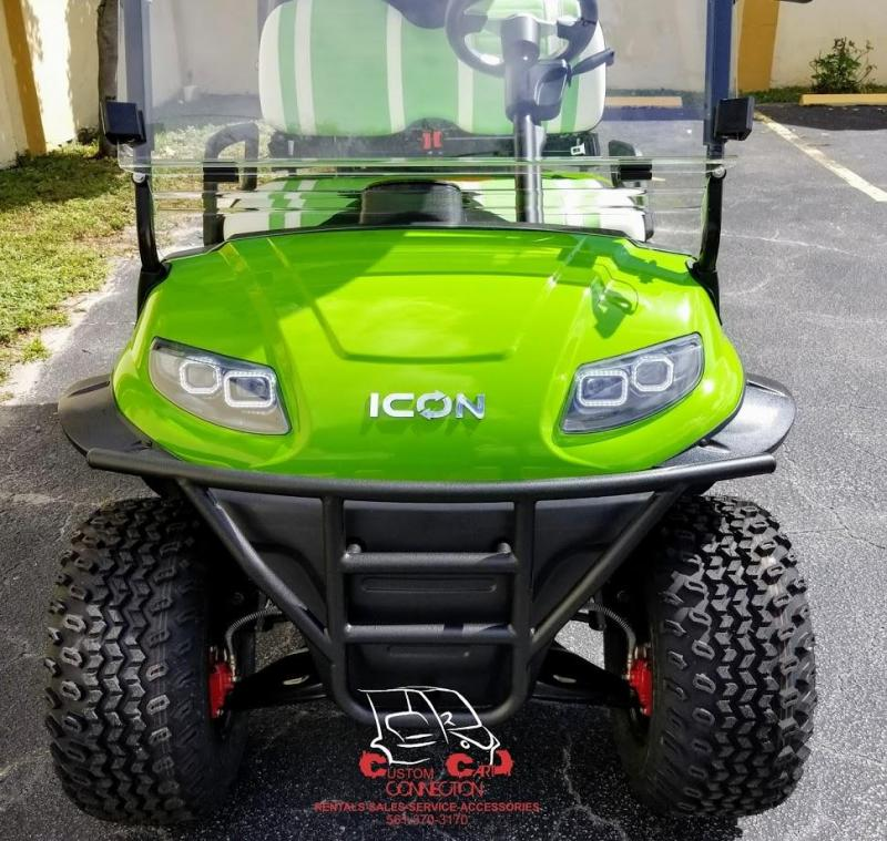 2020 ICON i40L Lime Green Golf Cart Electric Vehicle