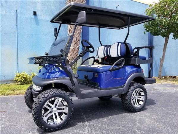 CLUB CAR PRECEDENT HIGH SPEED NAVY BLUE CUSTOM CART