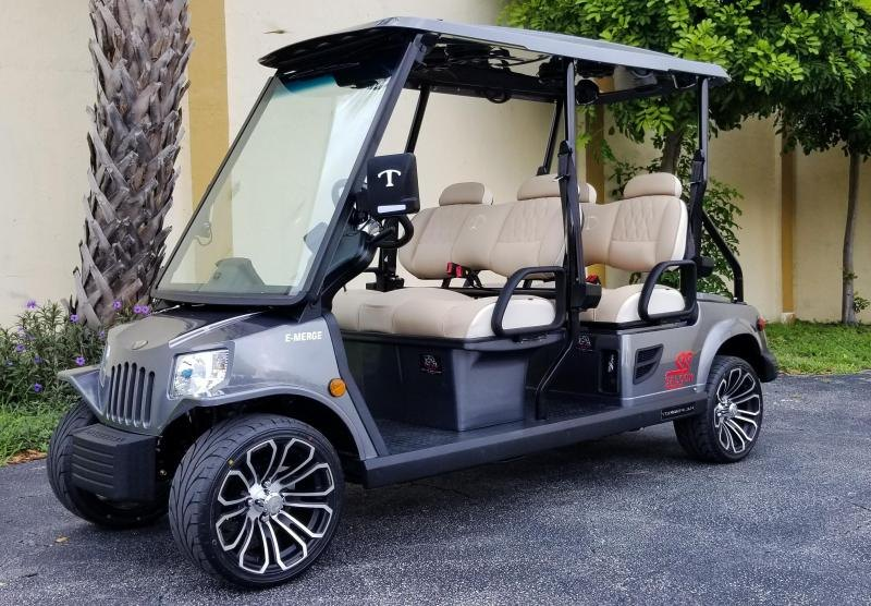 2021 Tomberlin E4 SS Saloon Sterling Grey Golf Cart LSV