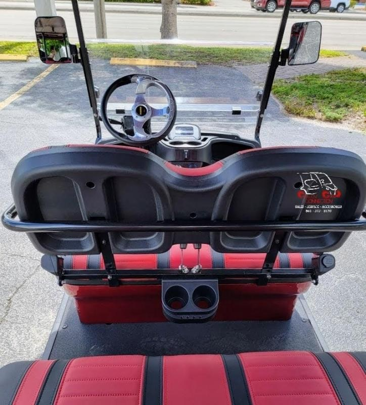 2021 ICON i60 Sangria Red 6 Passenger Golf Cart Electric Vehicle
