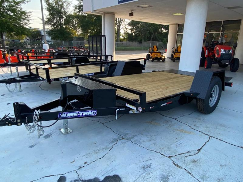 Sure-Trac 78 x 12 Single Axle Tilt Bed Equipment Trailer