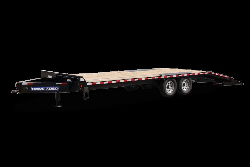 Sure-Trac 15K Deckover w/ Mega Ramps Equipment Trailer