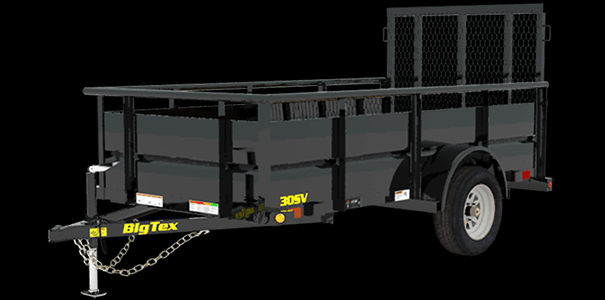 Big Tex 35SV-10 Single Axle Trailer