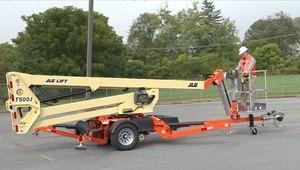JLG T500 50' Trailer Mounted Articulating Boom Lift