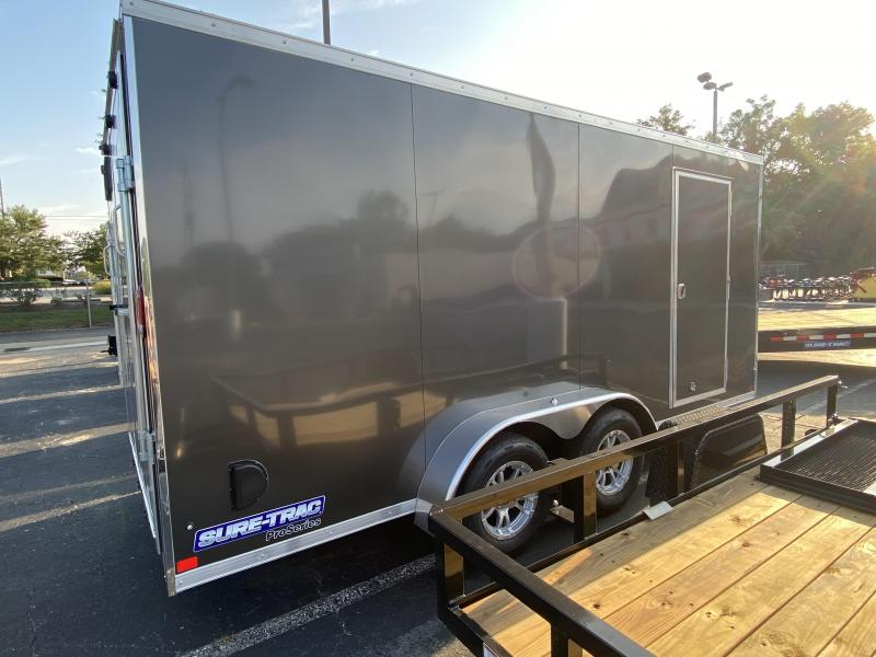 "Sure-Trac 84""x16 Pro Series Wedge Cargo Trailer"