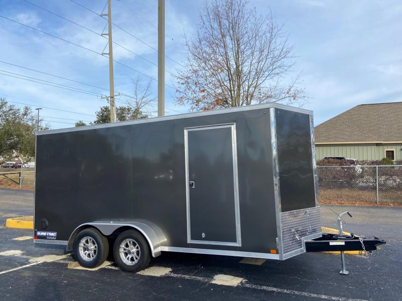 "Sure-Trac 84""x16 Pro Series Wedge Cargo Trailer"