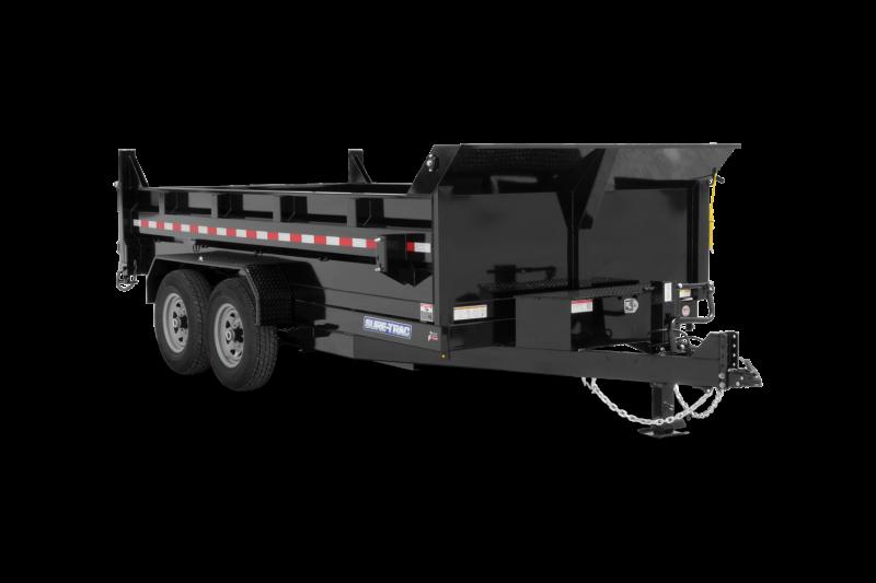 2021 Sure-Trac HD Low Profile Dump Trailer 14 Utility Trailer